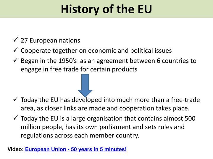 History of the EU