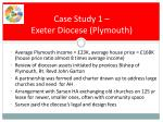 case study 1 exeter diocese plymouth