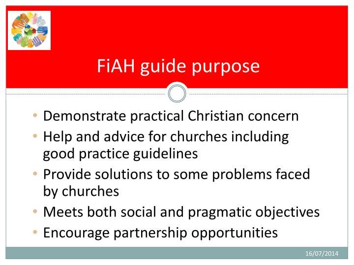 FiAH guide purpose