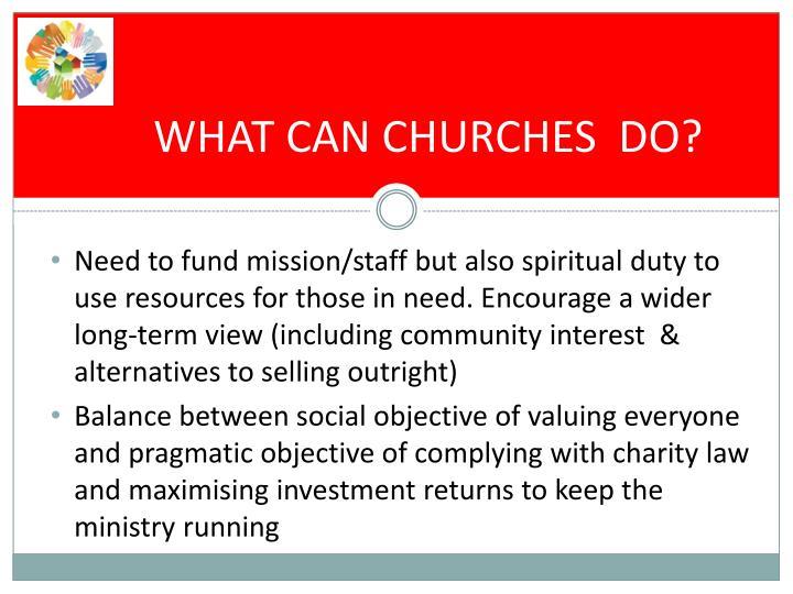 WHAT CAN CHURCHES  DO?