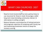 what can churches do
