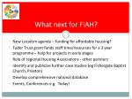 what next for fiah