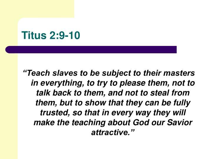 Titus 2:9-10