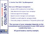 2 involve your ceo top management