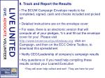 9 track and report the results1