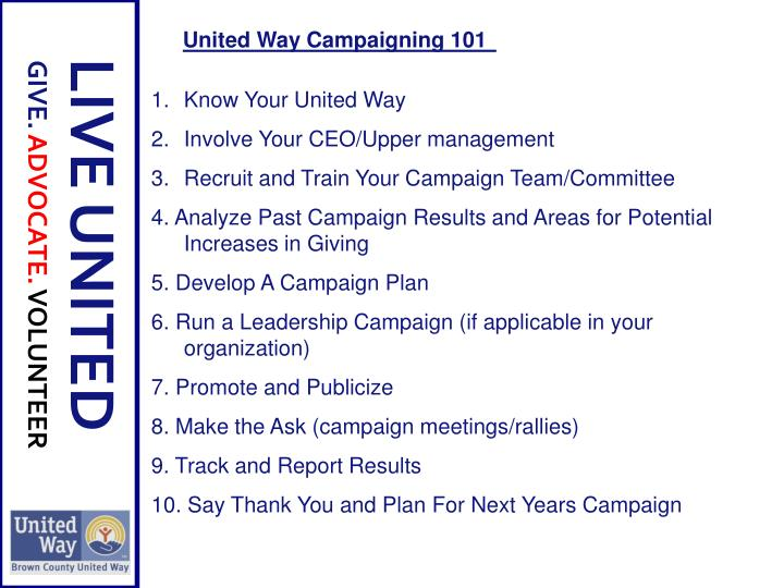 Know Your United Way