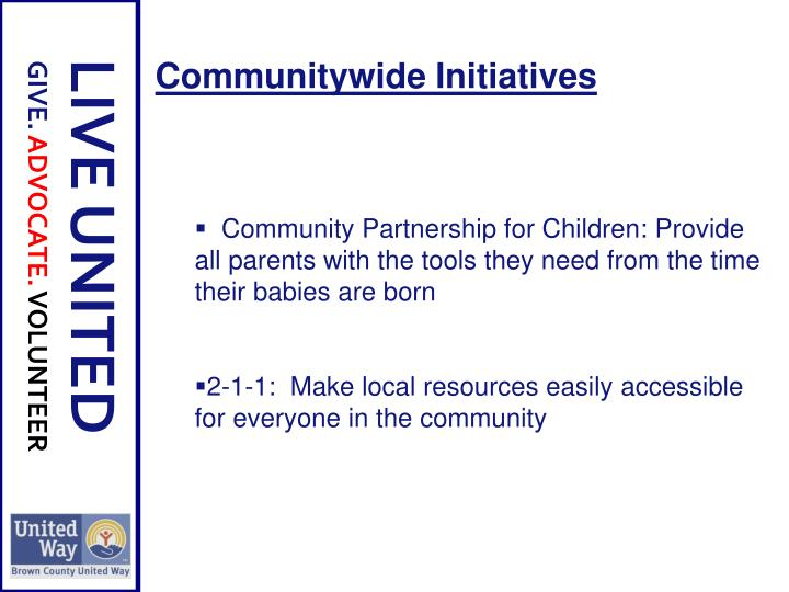 Communitywide Initiatives