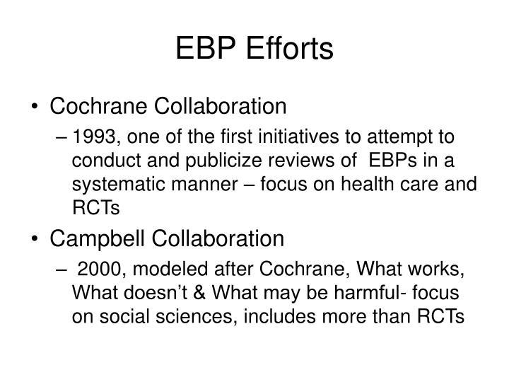EBP Efforts