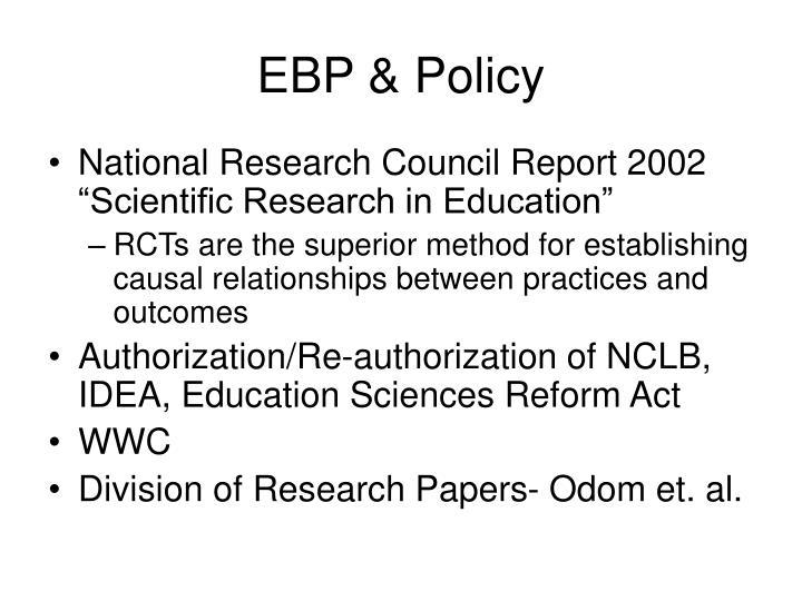 EBP & Policy