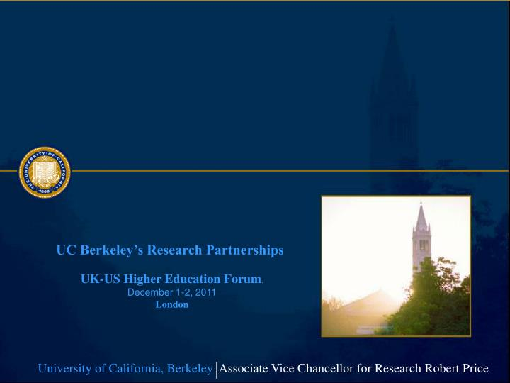 UC Berkeley's Research Partnerships
