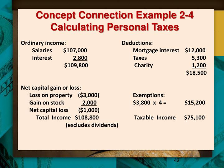 Concept Connection Example 2-4 Calculating Personal Taxes