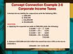 concept connection example 2 6 corporate income taxes