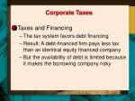 corporate taxes1