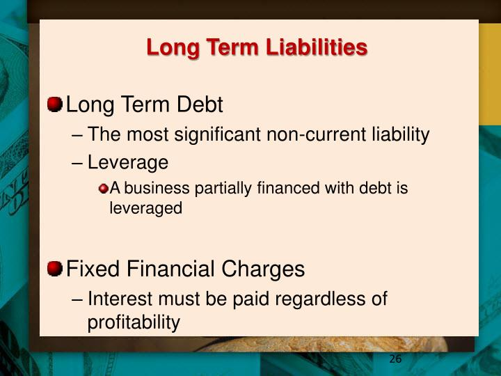 Long Term Liabilities