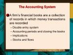the accounting system