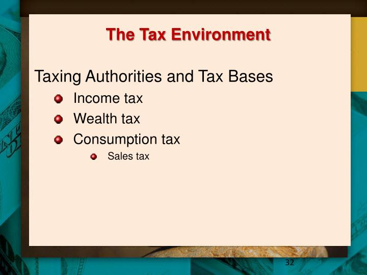 The Tax Environment