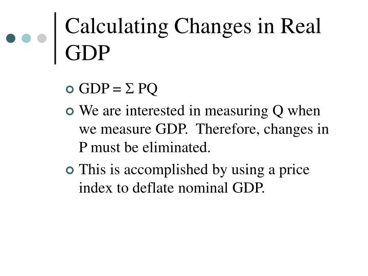 Calculating Changes in Real GDP