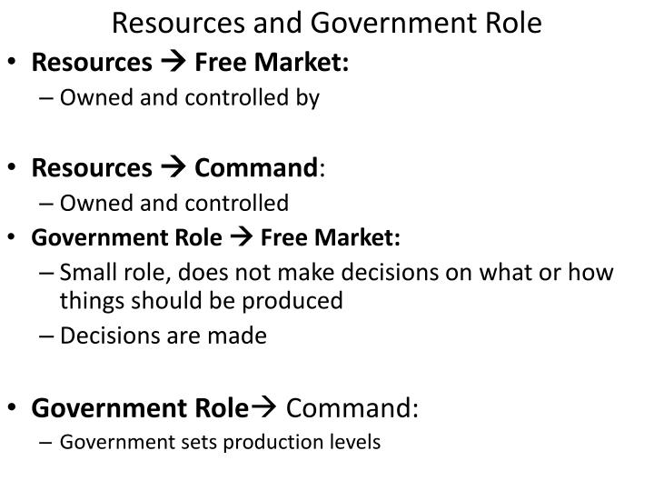 Resources and Government Role