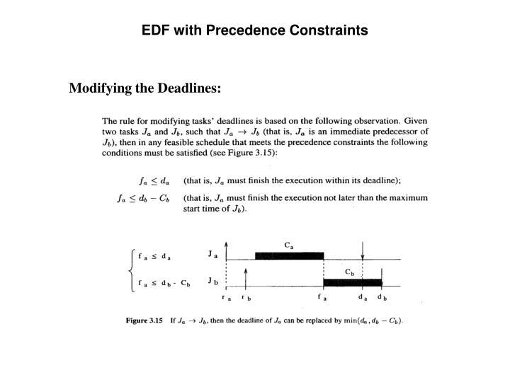 EDF with Precedence Constraints