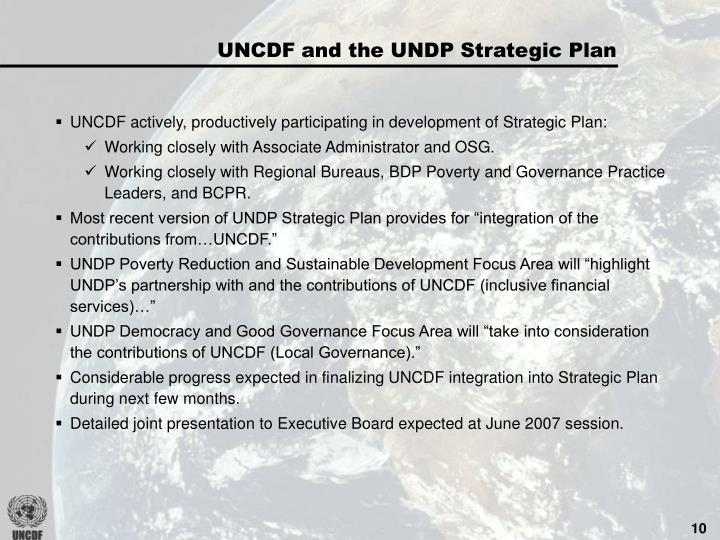 UNCDF and the UNDP Strategic Plan