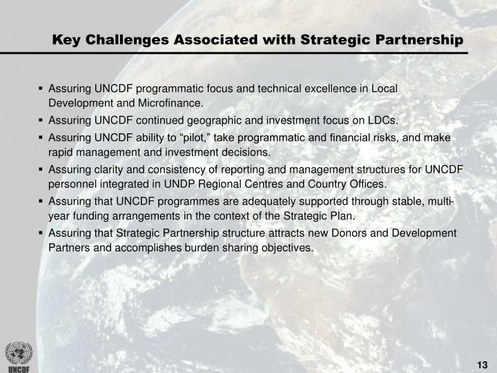Key Challenges Associated with Strategic Partnership