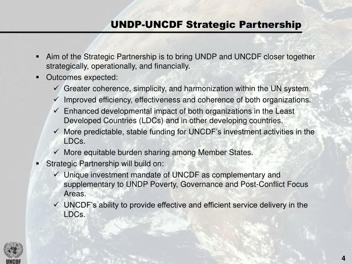 UNDP-UNCDF Strategic Partnership