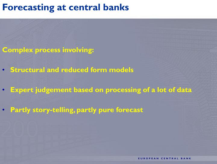 Forecasting at central banks