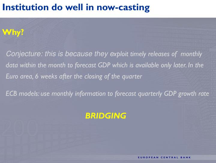 Institution do well in now-casting
