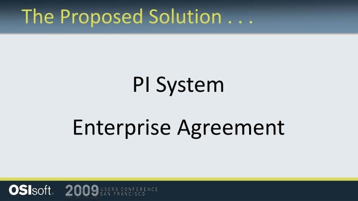 The Proposed Solution . . .