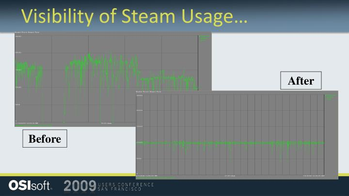 Visibility of Steam Usage…