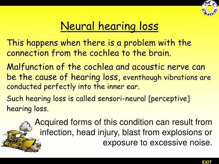 Neural hearing loss