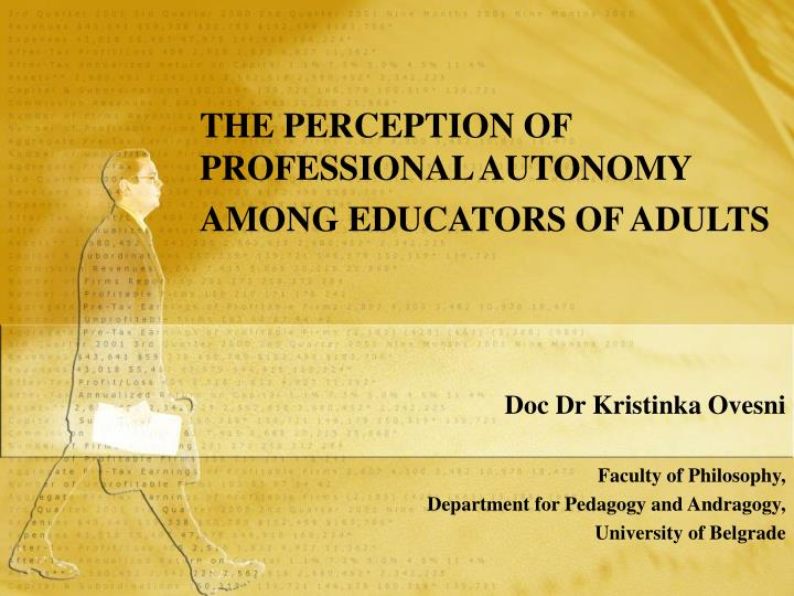 The perception of professional autonomy among educators of adults