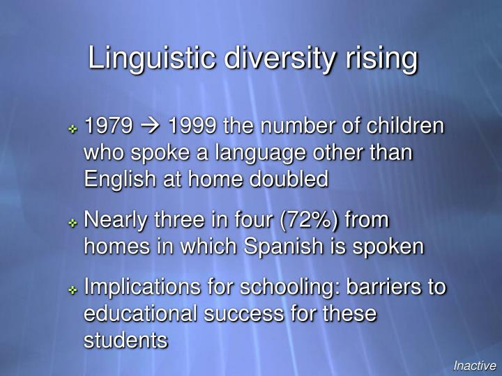 Linguistic diversity rising