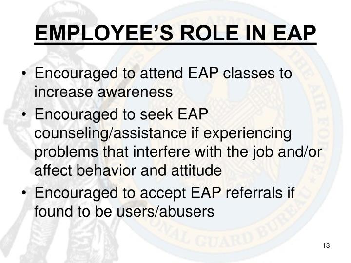 EMPLOYEE'S ROLE IN EAP