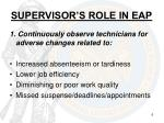 supervisor s role in eap