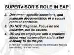 supervisor s role in eap2
