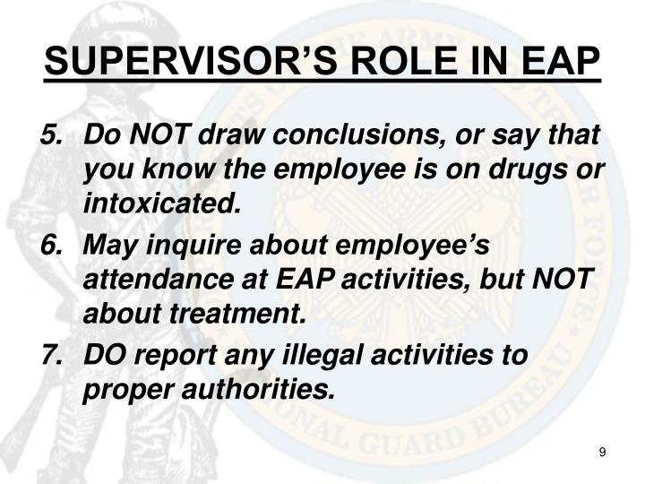 SUPERVISOR'S ROLE IN EAP
