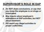 supervisor s role in eap3