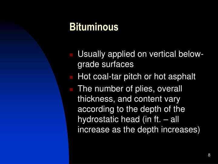 Bituminous