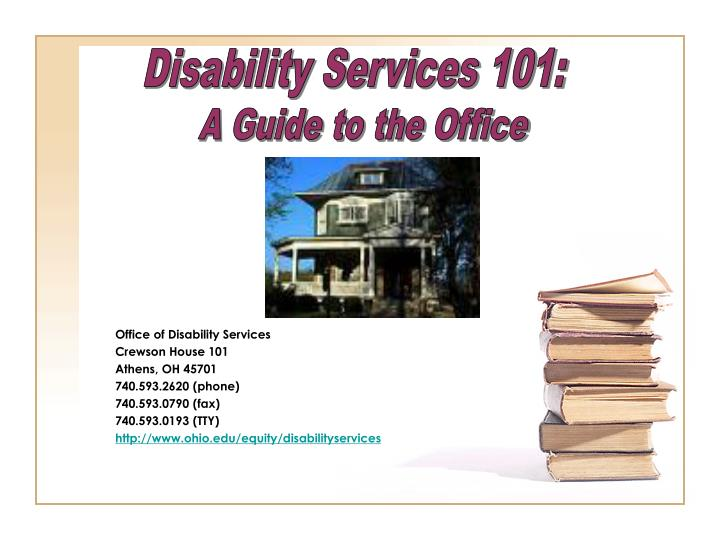 Disability Services 101: