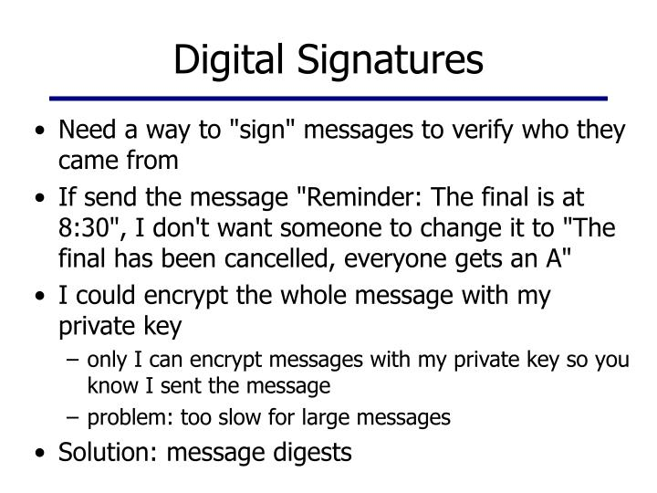 Digital Signatures