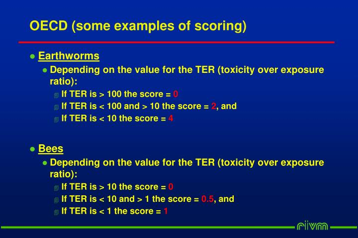 OECD (some examples of scoring)