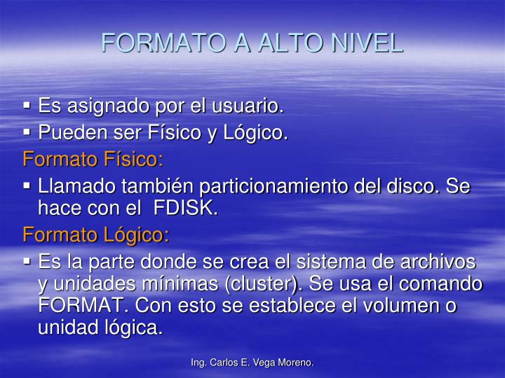 FORMATO A ALTO NIVEL