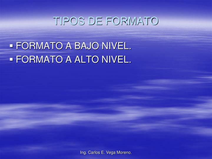 TIPOS DE FORMATO