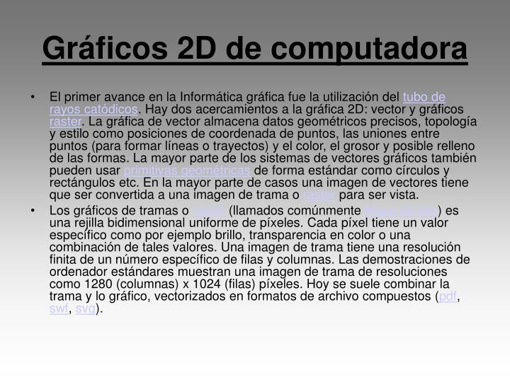 Gráficos 2D de computadora