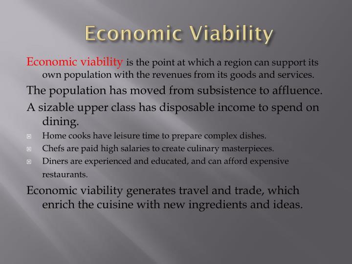 Economic Viability