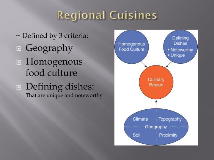 Regional Cuisines