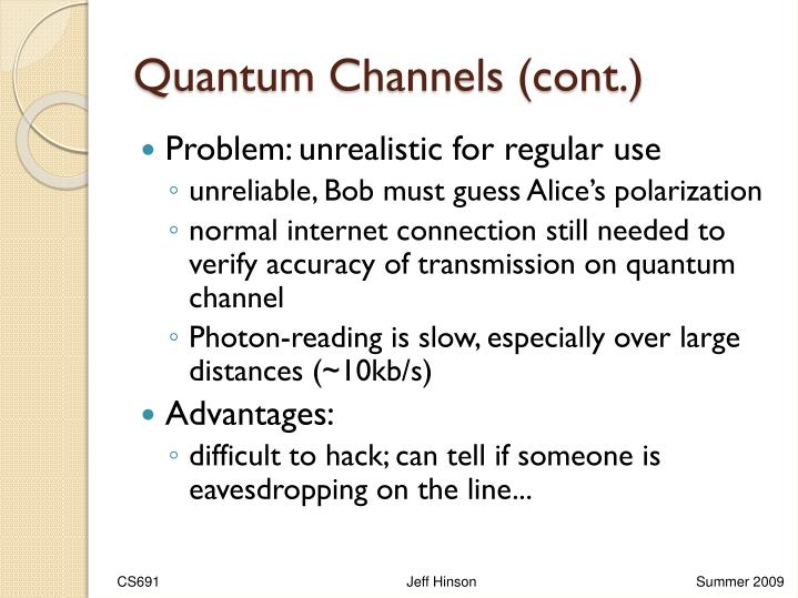 Quantum Channels (cont.)