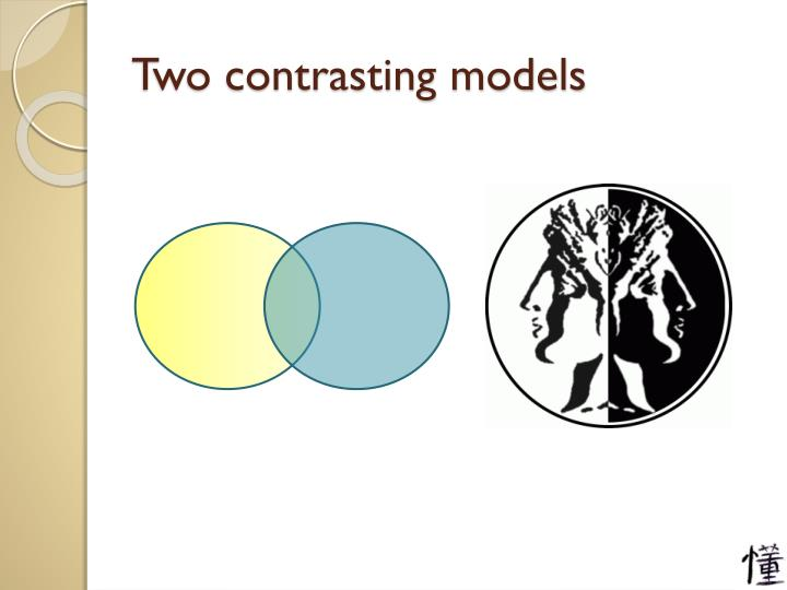 Two contrasting models