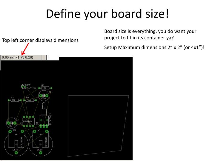Define your board size!